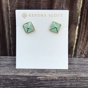 Kendra Scott Chalcedony Stud Earrings